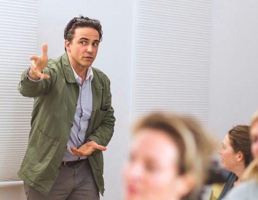 Séamus McNally at filmschool vienna